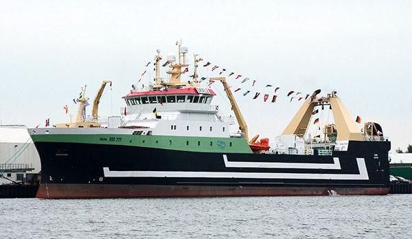 Erstanlauf der Mark in Bremerhaven im September 2015.