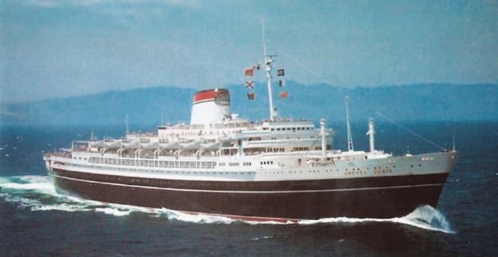 MS ANDREA DORIA im Nordatlantik.