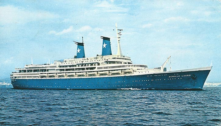 Der spektakulärste Terrorfall in der Geschichte der Kreuzfahrt war 1985 die Entführung der italienischen ACHILLE LAURO durch ein palästinensisches Terrorkommando.