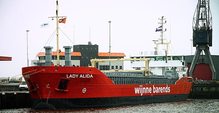 Das MS LADY ALIDA bereit zur Probefahrt.