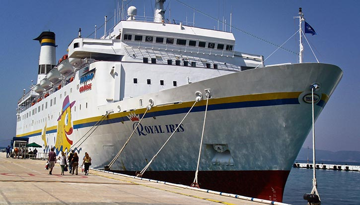 Israelische Kreuzfahrtschiffe wie hier die ROYAL IRIS der Reederei Mano Seaways stehen unter besonderer Beobachtung von Terrororganisationen wie auch von Sicherheitsbehörden und Geheimdiensten.