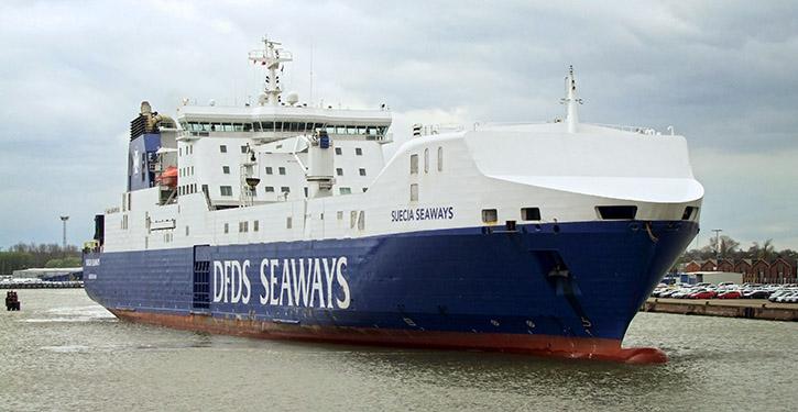 Bild von der Ankunft der RoRo-Fähre SUECIA SEAWAYS am 16.04.2016 im Bremerhavener Kaiserhafen.