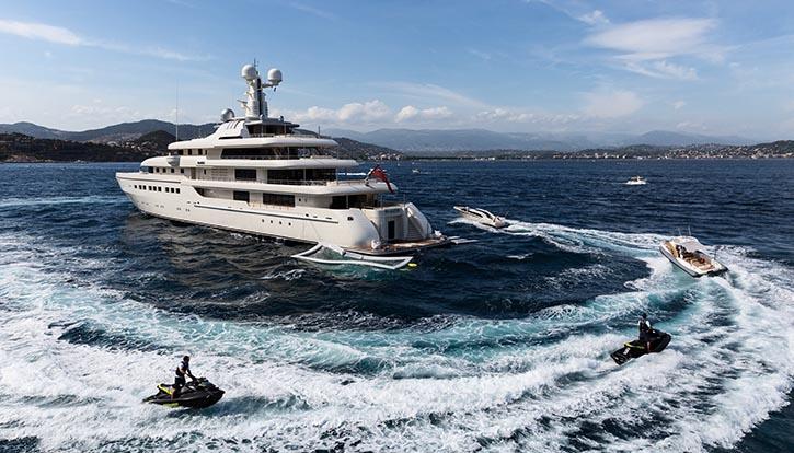 Megayacht ROMEA, gebaut bei Abeking&Rasmussen.