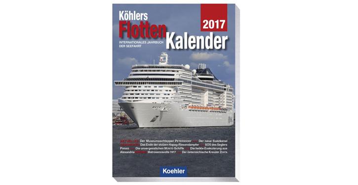 Cover Flottenkalender 2017.