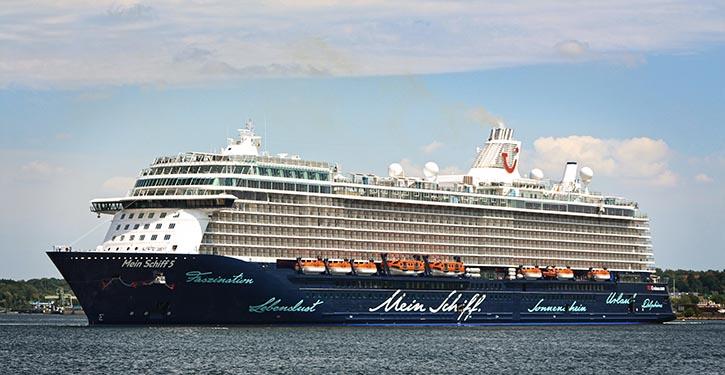 Die MEIN SCHIFF 5 läuft am 23.06. mit Kiel zum ersten Mal einen deutschen Hafen an.