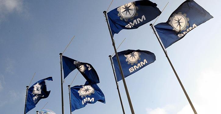 SMM 2014 Eingang Mitte Messeplatz.