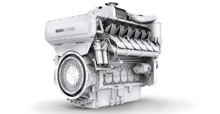 MAN 175 D mit Leistungen zwischen 1.500 bis 2.200 kW.