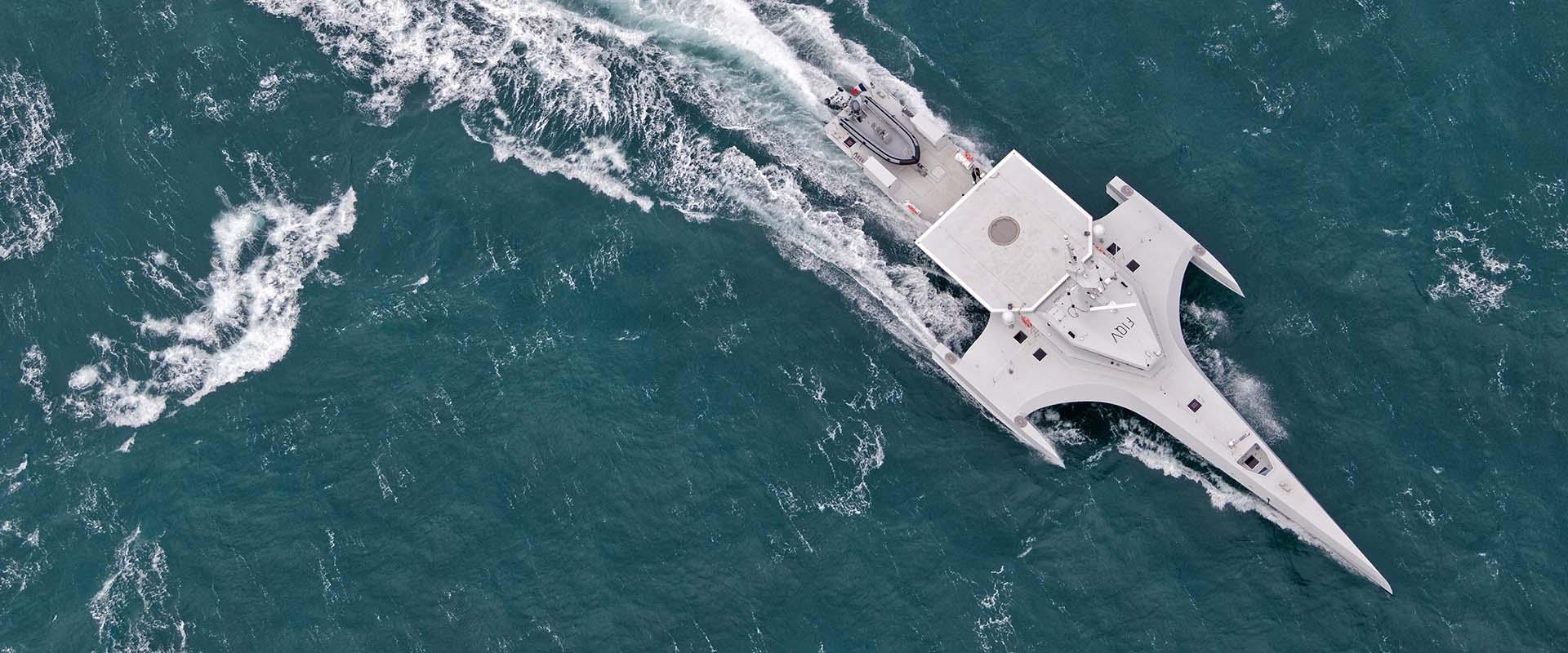 Die OCEAN EAGLE während einer ihrer vielen Testfahrten.