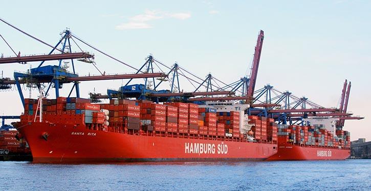 Santa Rita und Santa Barbara zusammen im Hafen von Santos