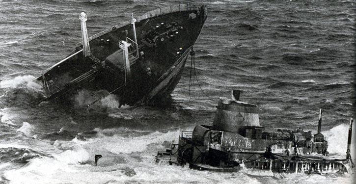 Untergang des Tankers ARGO MERCHANT vor 40 Jahren.