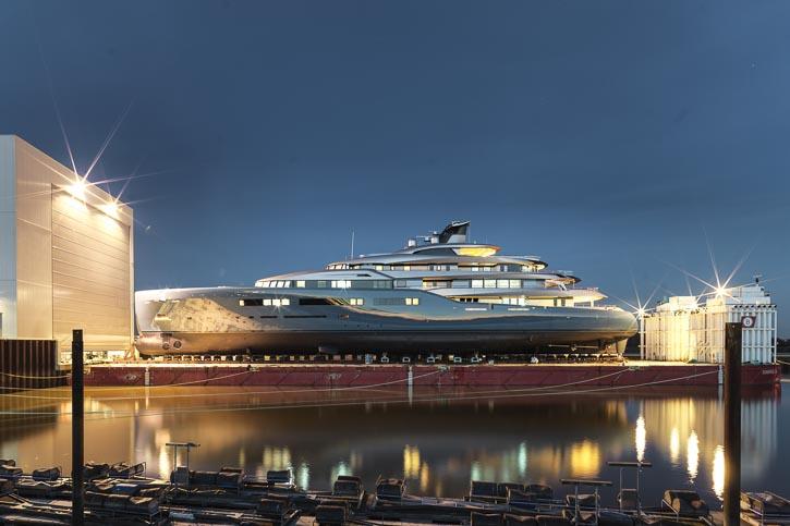 Mit 98m die größte Yacht der Werftgeschichte von Abeking & Rasmussen.