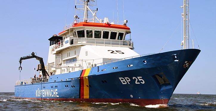 Schiff der deutschen Küstenwache.