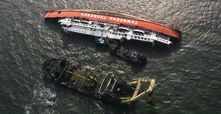HERALD OF FREE ENTERPRISE – Capsized and sank on 6 March 1987 due to taking on water just minutes after leaving the harbour at Zeebrugge in Belgium.
