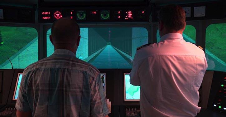 Virtuelle erprobung von Tunnelvarianten.