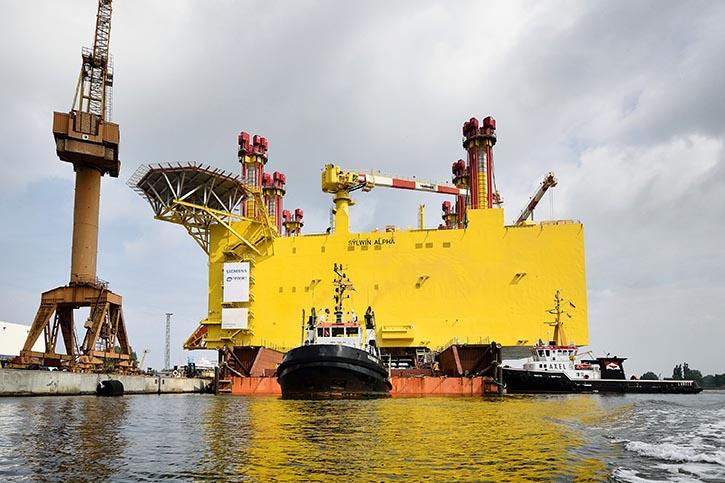 Konverterplattform für Offshore-Windkraftanlagen