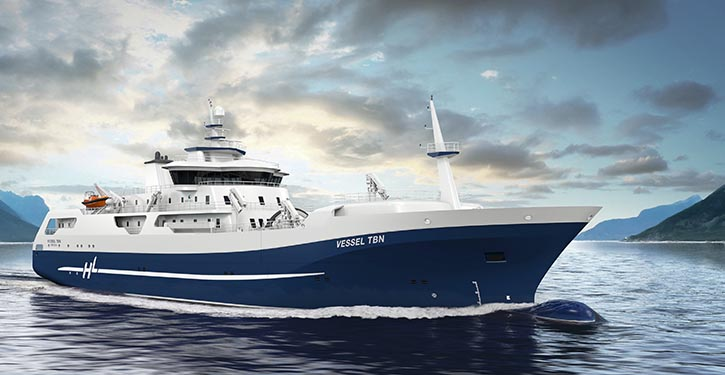 New salmon processing and transportation vessel for Hav Line AS.