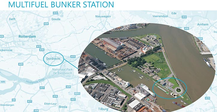 Standort der geplanten Multifuel-Bunkerstation.