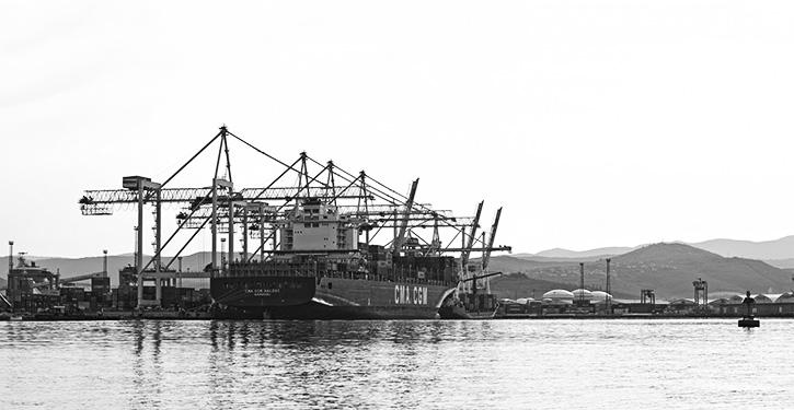 Hafen Koper an der slowenischen Adrieküste.