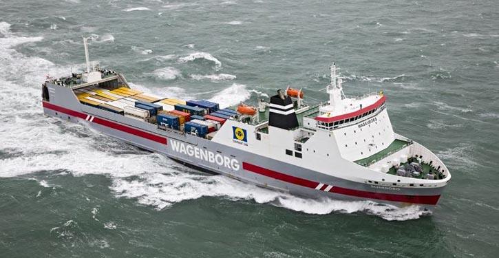 RoRo-Frachter MS SCHIEBORG.