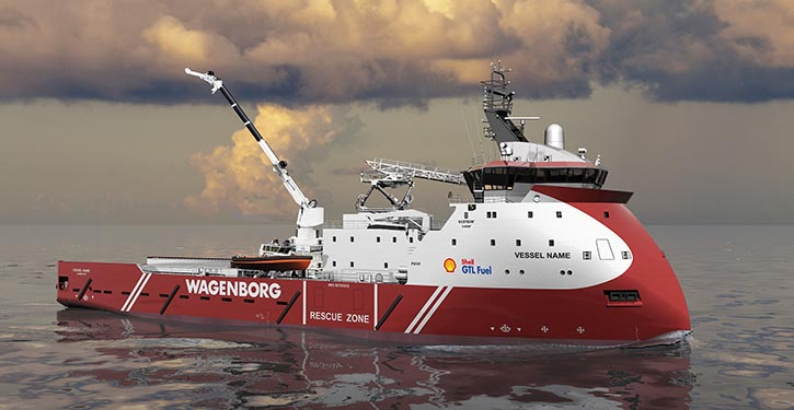 The vessel will be converted in 16 weeks and is expected to be delivered to Wagenborg Offshore March 2018.
