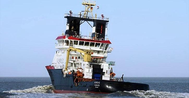 NORDIC auf ihrer Bereitschaftsposition nördlich Norderney.