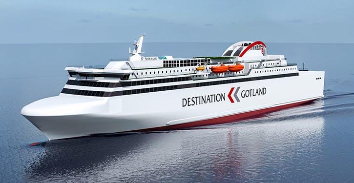 Die neue RoPax-Fähre VISBORG soll in diesem Jahr in Betrieb gehen. © Nauticor