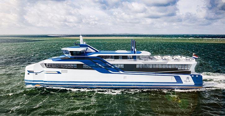 luminium-Katamaran für den Fährverkehr im niederländischen Wattenmeer.