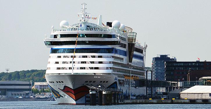 AIDAluna in Kiel. © Port of Kiel