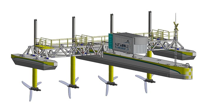 The 280kW PLAT-I is 32 meters long, with a beam of 27 meters.