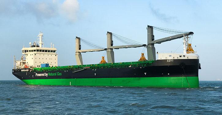 Haaga at seatrial. Photo:ESL ShippingLtd.