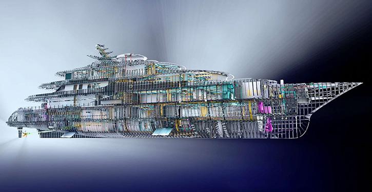 Design einer Luxusyacht. © A&R