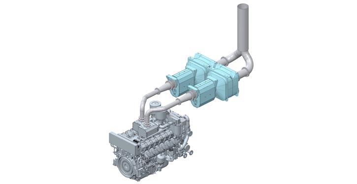 Darstellung des MAN 175D SCR-Systems (©MAN ES)
