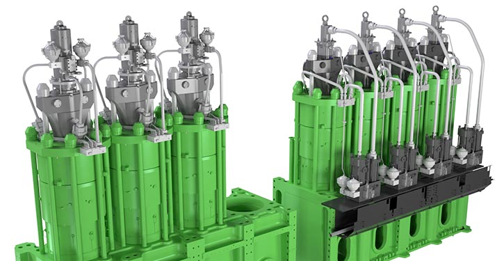 Traditional HCU, actuator and exhaust valve