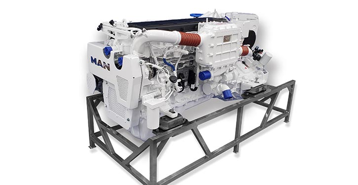 Der weiterentwickelte Reihensechszylindermotor von MAN Engines mit 800 PS