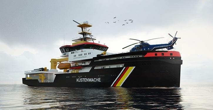 Ein Gasschutzsystem ermöglicht den Einsatz der Schiffe in explosiver und giftiger Umgebung.