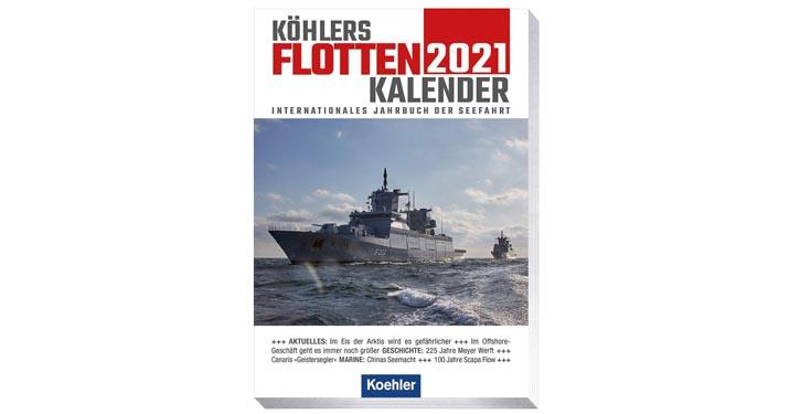 Buchcover Flottenkalender 2021