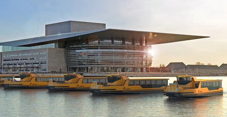 Die neuen elektrischen Hafenfähren haben ihren Dienst in Kopenhagen aufgenommen