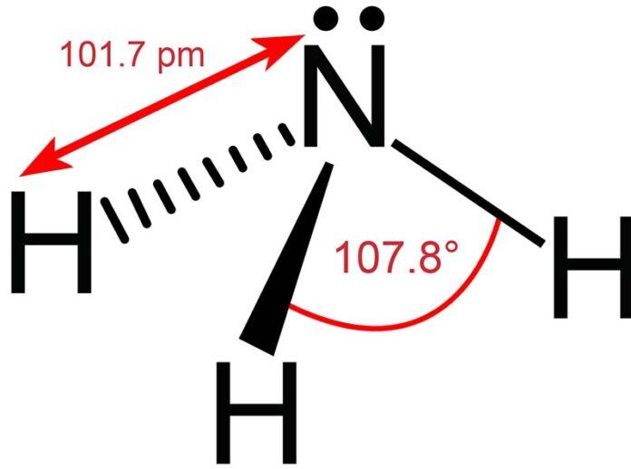 Molekülgeometrie von Ammoniak