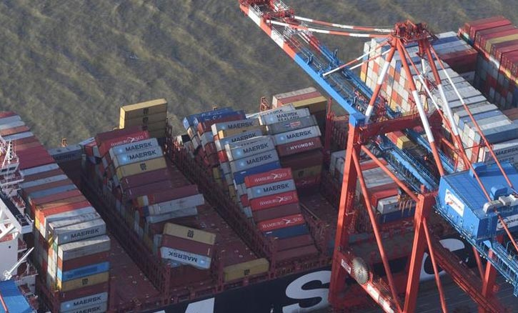Containerverlust auf See.