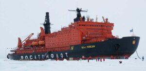 Die 50 LET POBEDY, eines der größtes russischen nuklear-elektrisch betriebenen Eisbrecher
